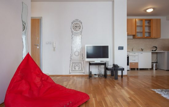 Urban Red Apartment - Living room